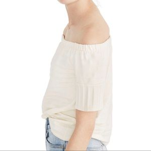 Madewell | Off The Shoulder Cream Knit Top